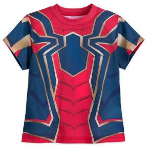 NWT Disney Store Spiderman Costume Short Sleeve T Shirt Boy Avengers many sizes