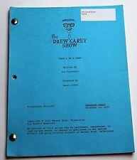 The Drew Carey Show * 2000 TV Show Script, Drew's in a Coma, Season 6 Episode 15