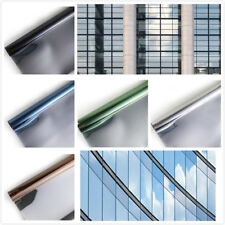 One Way Mirror Solar Reflective Daytime Privacy Static Window Film Tint Cling