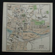 Vintage Map: Lincoln & Lincoln Cathedral, Lincolnshire by John Bartholomew, 1957