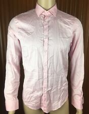 (Used) Mens Zara Man Long Sleeve Button Front Shirt Size: M Pink