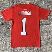 Reebok NHL Florida Panthers Roberto Luongo Hockey Jersey Shirt Mens Small