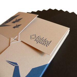 Black Origami Paper | 100 Sheets, 15cm Square | Pantone Process Black