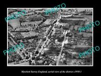 OLD LARGE HISTORIC PHOTO MYTCHETT SURREY ENGLAND AERIAL VIEW OF DISTRICT 1950 2