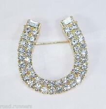 Rhinestone crystal like divine horse shoe brooch pin BR50393