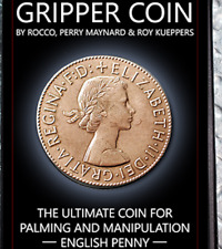 Gripper Coin (Single/ English Penny) by Rocco Silano