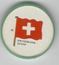1963 General Mills Flags of the World Premium Coins #50 Switzerland