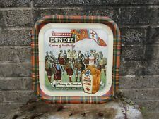 More details for vintage stuarts dundee cream of the barley advertising tray - 1970's pub decor