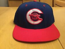 VINTAGE CALGARY CANNONS DELONG MILB SNAPBACK HAT MINOR LEAGUE BASEBALL wool