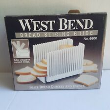 West Bend Bread Slicing Guide No. 6600
