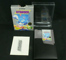 Stinger Nintendo NES 1987 1st Print CIB Hangtab 5-Screw Cart & Manual, Box Fair