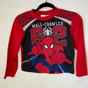 Marvel Ultimate Spider-Man Pajama Set Top Bottom Long Sleeve Crew Neck Size 8