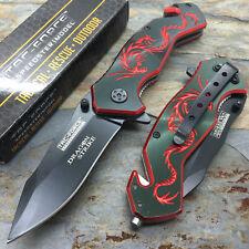 Tac Force Open Assisted Dragon Strike Red Dragon Aluminum Handle Pocket knife