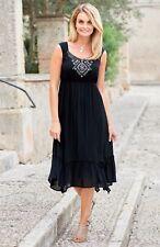 Plus size 8-38 UK Ladies womans summer beach gypsy boho dress black or khaki