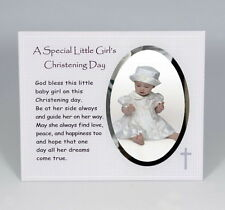 Special Little Girl Christening day Glass Frame with Verse