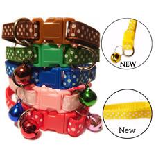 Cat Puppy Dog Adjustable Kitten Collar Bell Pet Accessories Dot Design 19-32cm