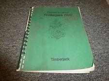 Timberjack 762C Harvester Head Owner Operator Maintenance Manual F049546