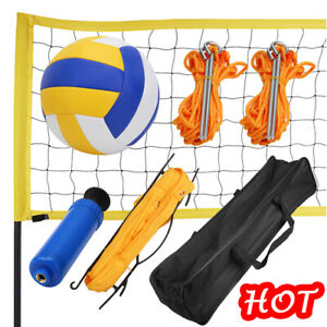 Portable Professional Outdoor Volleyball Net Set with Adjustable Height Pole