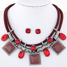 Crystal Collar Chunky Costume Necklaces & Pendants