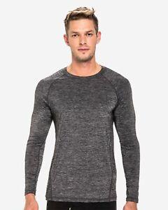 TEAMM8 Triumph t-shirt long sleeve grey black men gym size XL