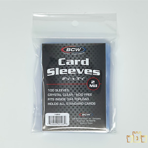1 Pack of 100 count BCW Soft Penny Sleeves