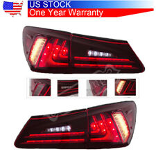 For Lexus IS250 IS350 2006-12 White+Red Side Marker Rear Bumper Fog Lights 2PCS