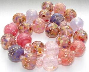 "Sistersbeads ""I-Desert Rose"" Handmade Lampwork Beads"