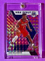 Zion Williamson RARE PINK ROOKIE PRIZM MOSAIC REFRACTOR 2019-20 HOT RC - Mint!
