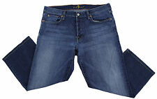 """SEVEN 7 FOR ALL MANKIND WOMENS RELAXED CROP JEANS 36 (35.5"""" Actual) MID RISE EUC"""