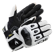 White M NEW RS Taichi RST410 Mens Perforated leather Motorcycle Mesh Gloves