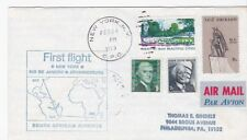 FIRST FLIGHT SOUTH AFRICAN AIRWAYS NEW YORK NY - RIO DE JANEIRO 2/24/1969