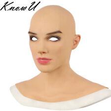 Copricapo in silicone pelle realistico Cosplay Halloween Masquerade Ballo Donna TV CD
