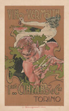 Cartoncino Pubblicitario -Cinzano e C. Vermouth.illlust.da L.Simondetti