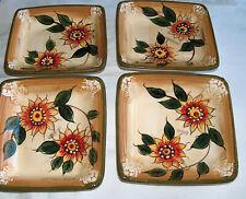 G/R Grand Sierra Resort Casino Reno 4 Set Ceramic Sunflower Salad Plate Dishes