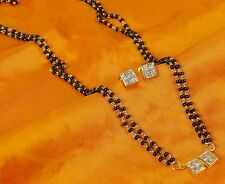 MS- 412 Black Beads Chain Bridal Mangalsutra Earrings Indian Fashion Jewelry