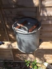 Vintage Caretaker - Janitor Galvanised Metal & Wood Bucket With Wring Mechanism