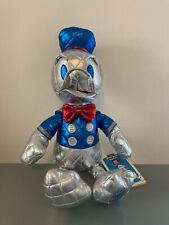 "Disney Donald Duck 85th Anniversary Quilted Metallic 15"" Plush Special Edition"