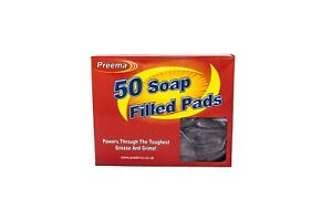 100 Preema Soap Filled Scourer Pads-Cleaning-Catering
