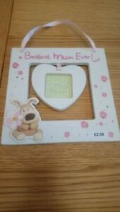 'Bestest Mum Ever' Hanging Heart Photo Frame - Boofle - Gift