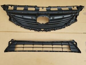 2PC Set 2014-2017 MAZDA 6 Front Bumper Upper & Lower Grille NEW PAIR
