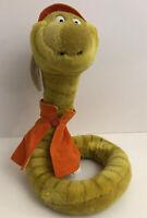 "Disney Sears Sir Hiss Snake Plush Stuffed Animal Robin Hood 12"" Tall Vintage Tag"
