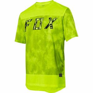 Fox Racing 2020 Ranger Elevated Dri-Release s/s Short Sleeve Jersey Glo Yellow