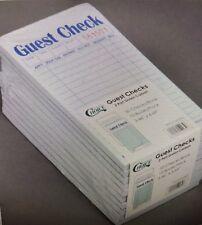 1000 GUEST CHECKS - CHOICE 2 PART GREEN AND WHITE CARBON - 20 PACKS OF 50 - NIB