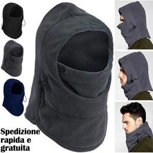 Berretto cappello Copricapo Passamontagna Antivento unisex multiuso invernale