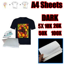 A4 Transfer Paper 5/10/20/50/100 Sheets  Iron Heat For The Dark Cotton T-shirt