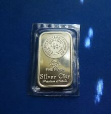 1 oz Silver City  1 Troy oz .999 Fine Silver Bar. !! Lot 1