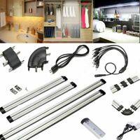 LED Strip Link Bar Light/Cable/Switch/Plug Shelf Counter Kitchen Cabinet Cupboad