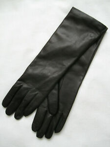 Max Mara Weekend Tennis leather gloves, size 7
