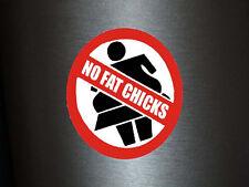 1 x Aufkleber No Fat Chicks Chick Warnung Warnschild Shocker Tuning Sticker Fun
