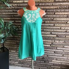 BIBA Womens Indian Zing Casual Embroidered Sun Dress Size 34 Small NWT